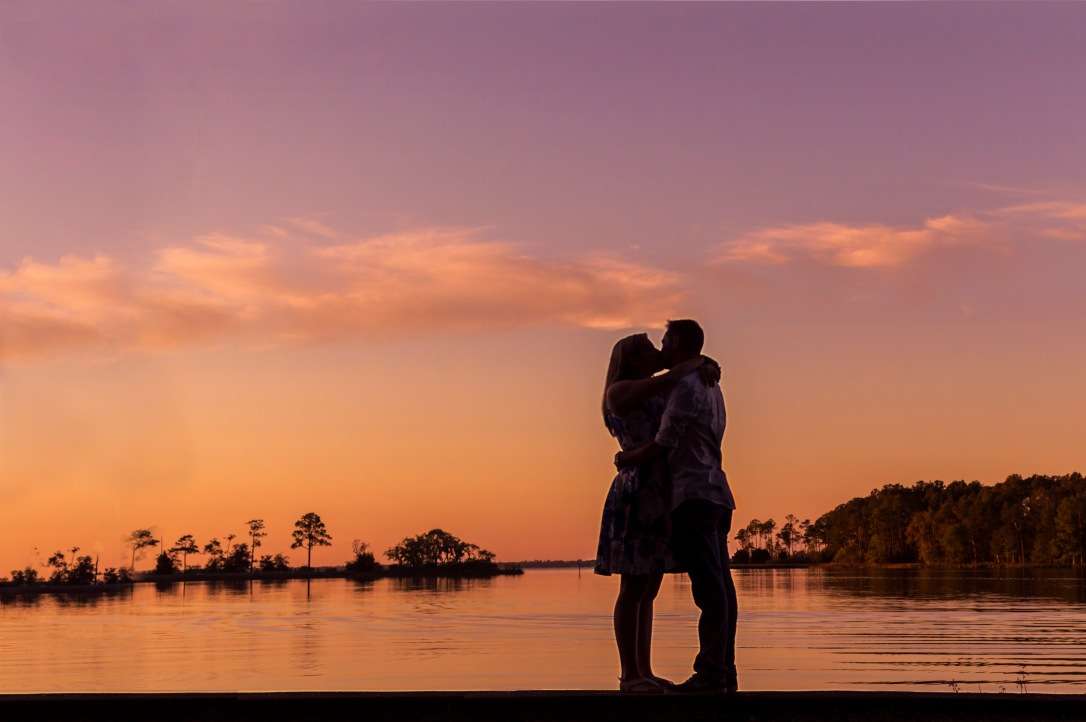Sunset Engagement Session at Eden Gardens State Park, Santa Rosa Beach, Florida