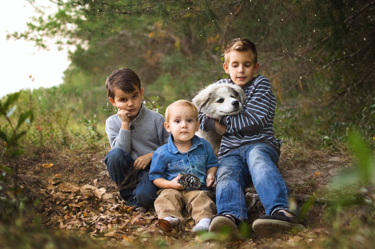 Three brothers and their dog | Crestview, Florida Child Photographer