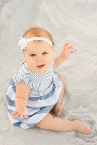 Six month milestone at the beach | Destin, Florida Child Photographer